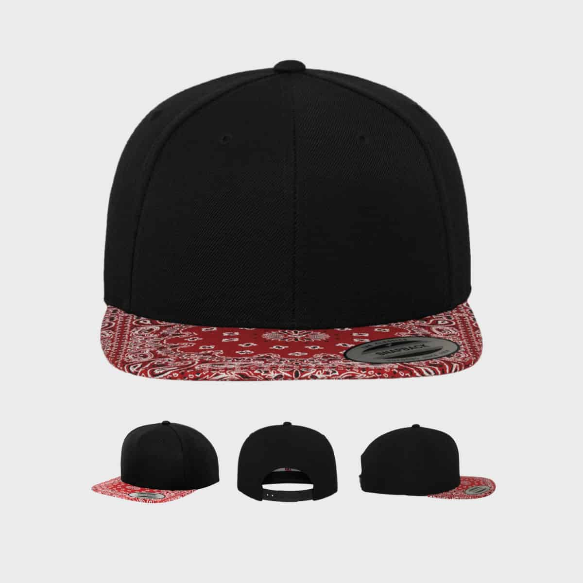 Flexfit Snapback FFE 6089BD Black Red Front Extra