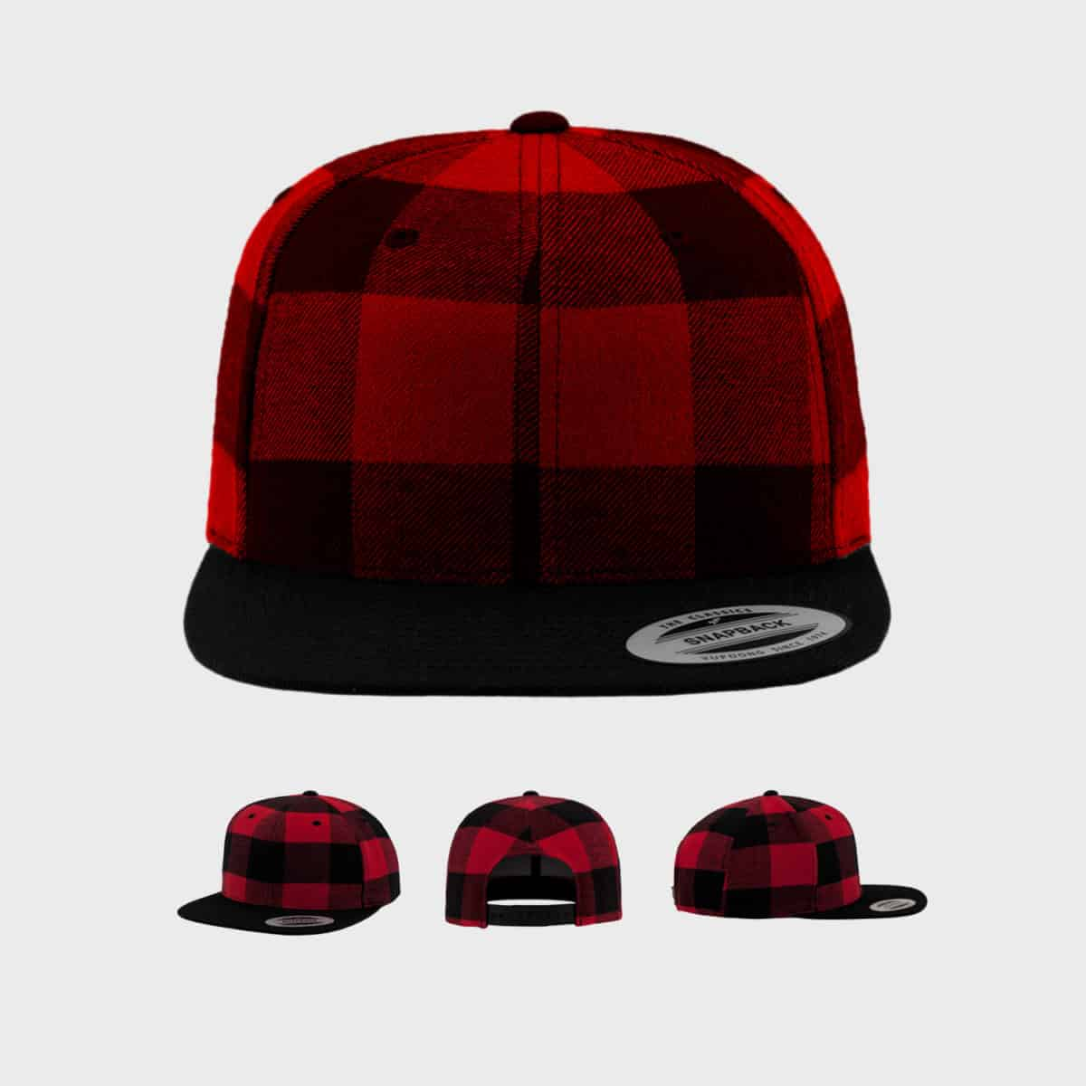 Flexfit Snapback FFE 6089RC Black Red Front Extra