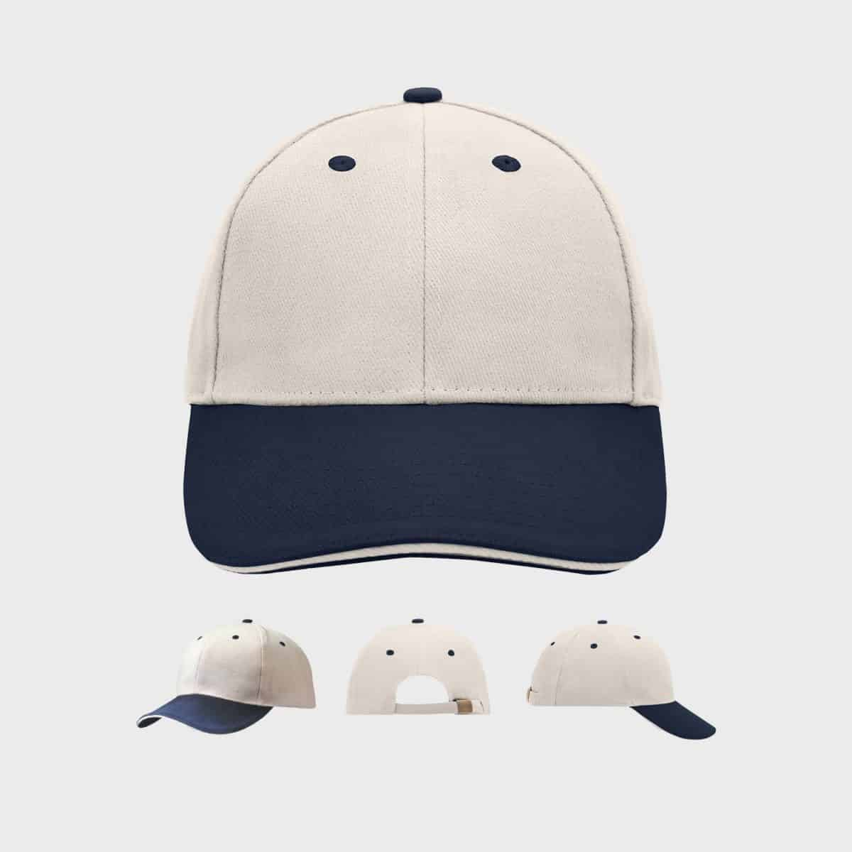 6-panel-basic-sandwich-cap-unisex-navy-beige-kaufen-besticken_stickmanufaktur
