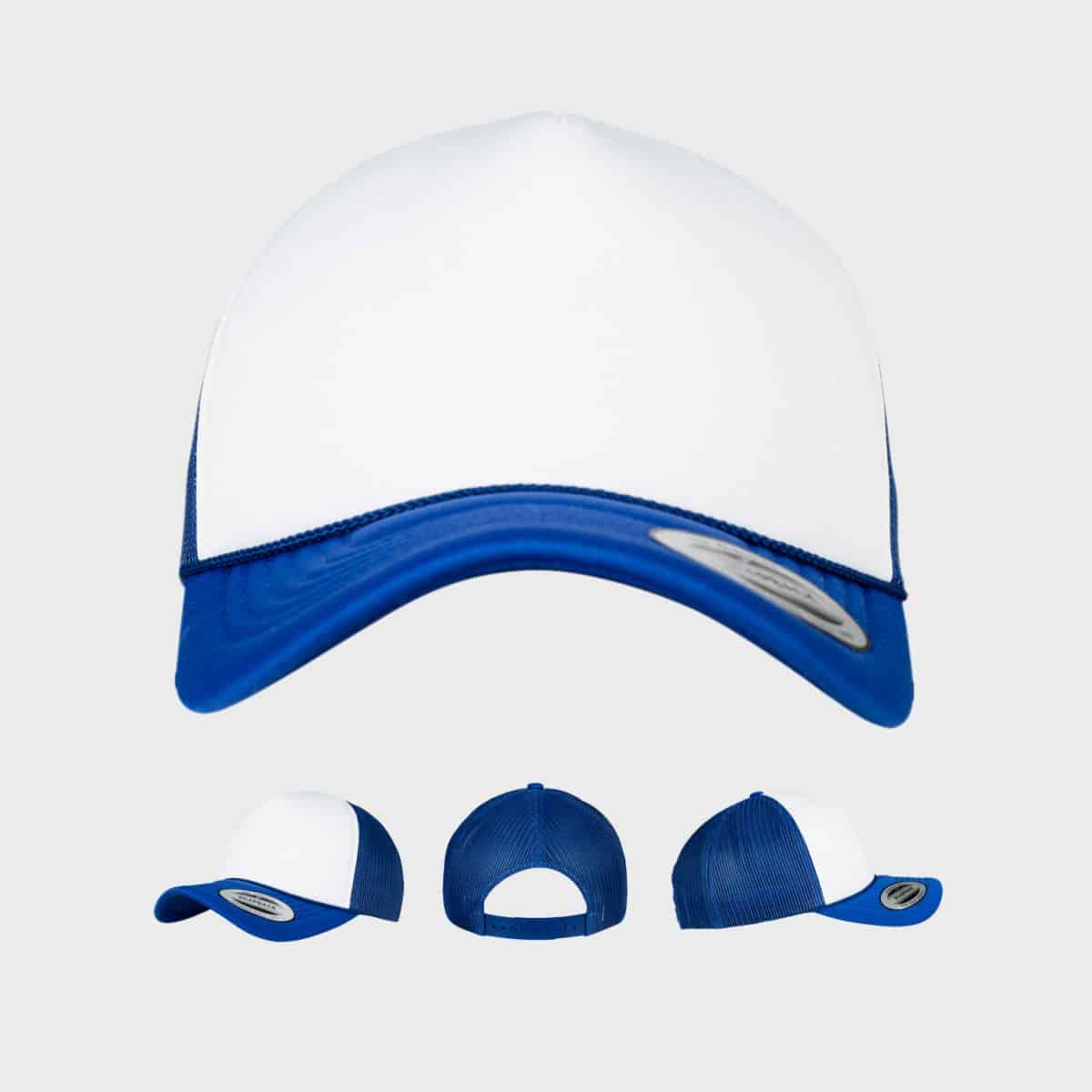 Flexfit TruckerCaps FFE 6005FC Blau Weiss Blau Front Extra