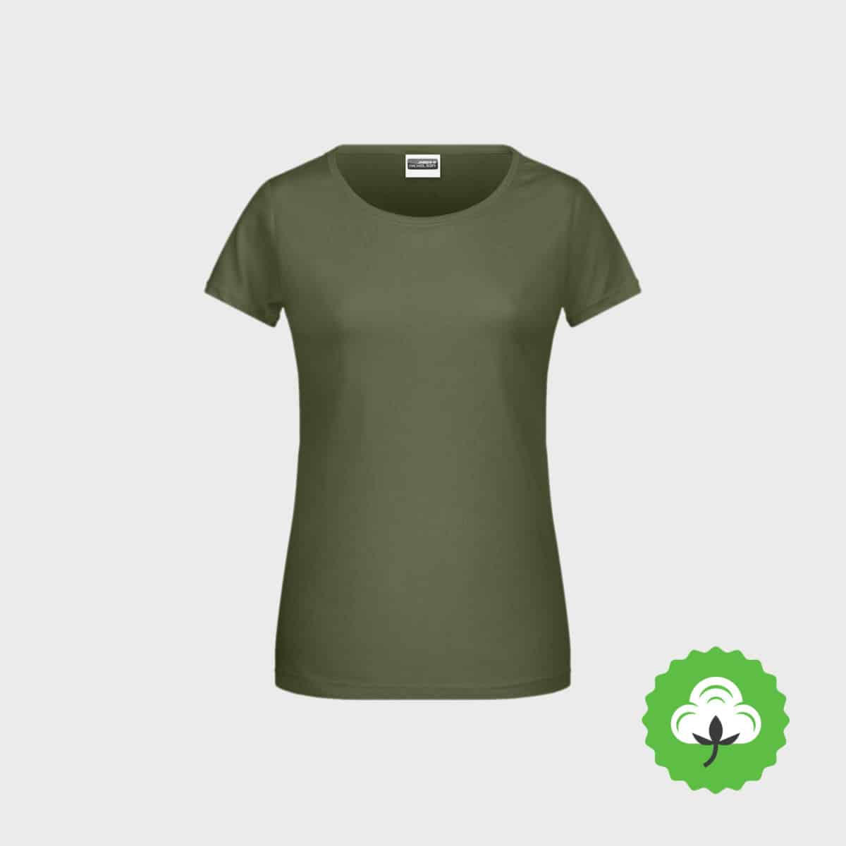 Bio Damen T Shirt Classoc BioCotton Ash 8007 StickManufaktur