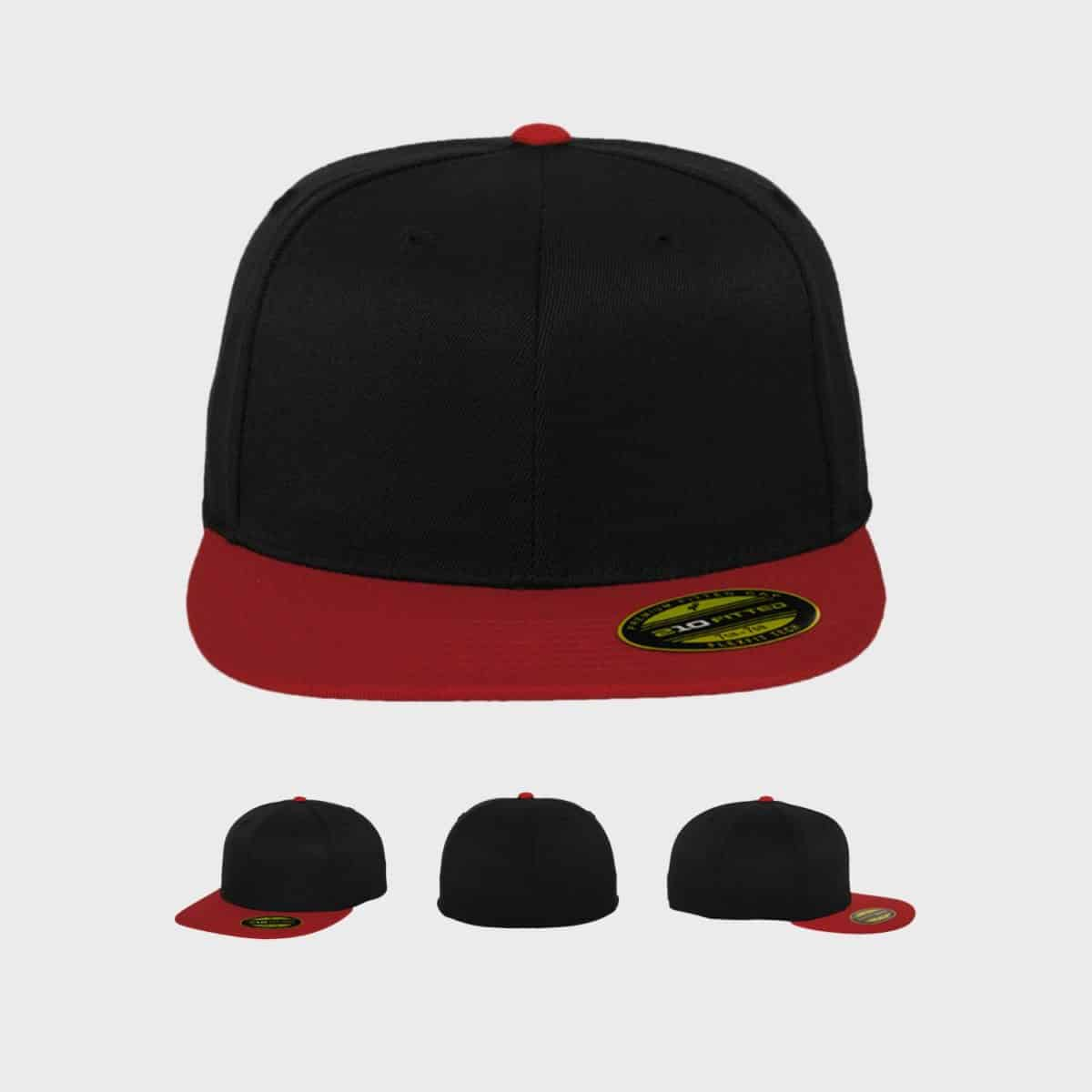 Flexfit FlexfitCaps Black Red Front Extra